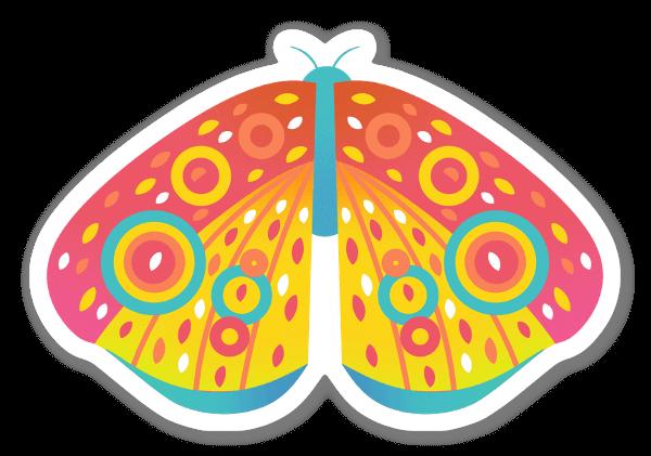 Värikäs perhonen tarra