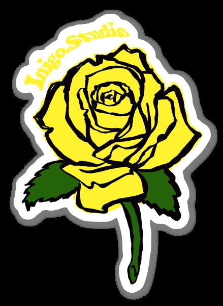 Żółta róża naklejka
