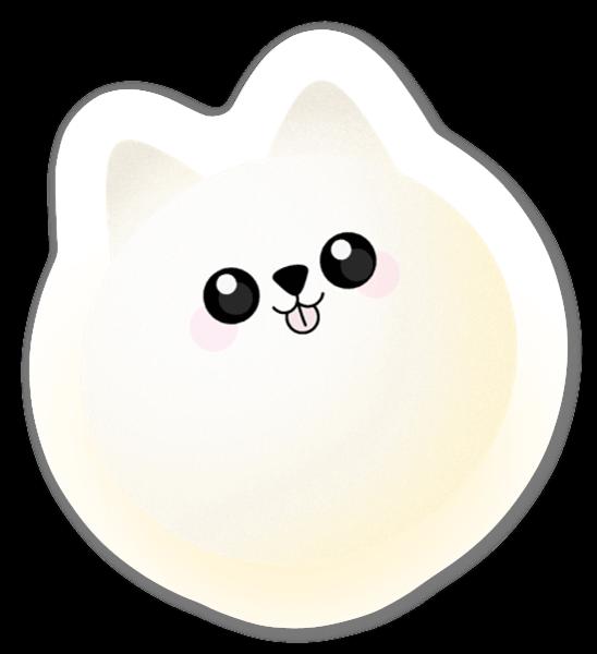 Ljusgul Katt sticker