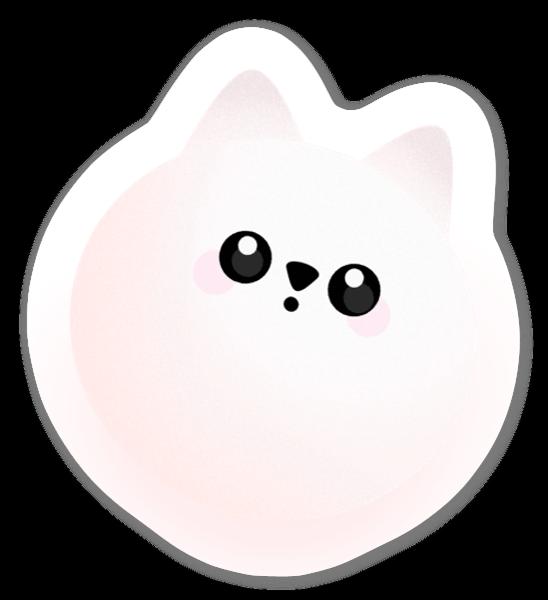 Ljusrosa Katt sticker