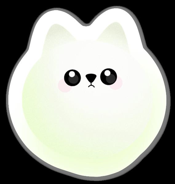 Ljusgrön Katt sticker