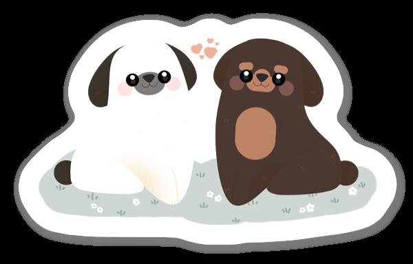 Två Hundar sticker