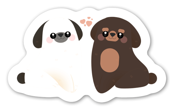 Vit & Brun sticker