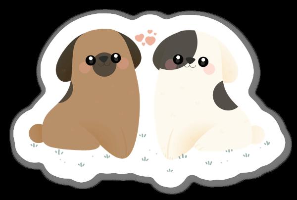 Glada Hundar sticker