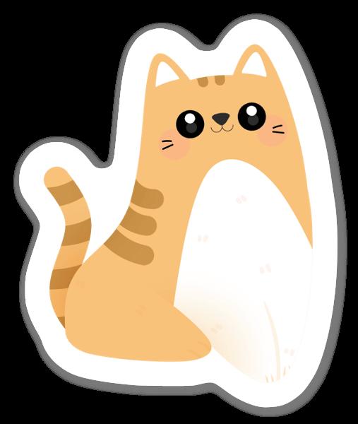 Raidallinen kissa tarra