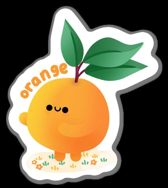Pomarańcza naklejka