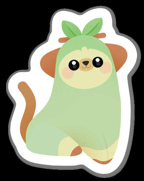 Söt & Ljusgrön sticker