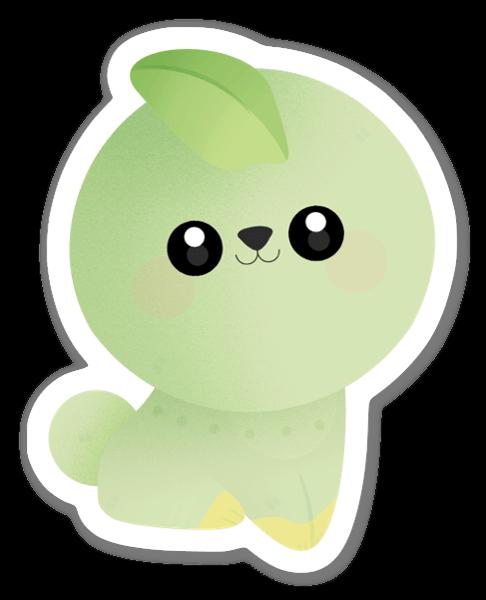 Söt & Grön sticker