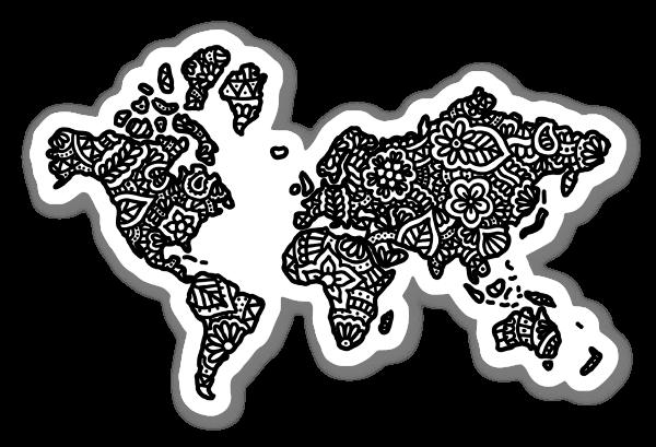 Maailmankartta tarra