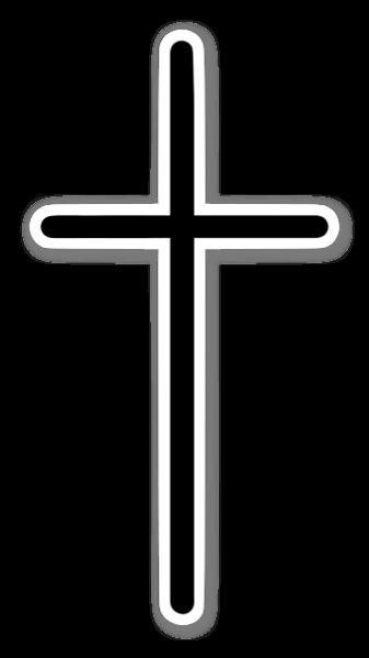 Minimalistyczny krzyż naklejka