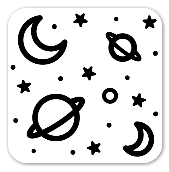 Minimalistyczny kosmos naklejka