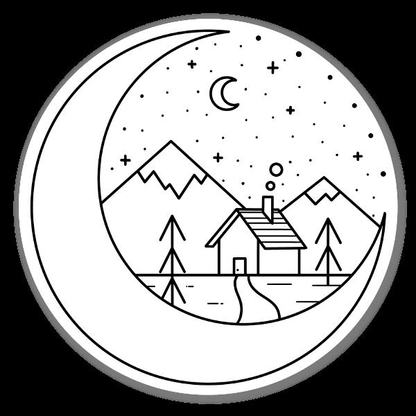 Tähtiyö tarra