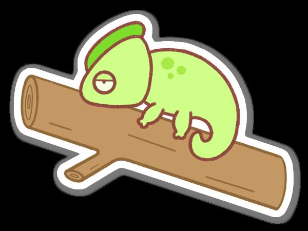Laiska kameleontti tarra