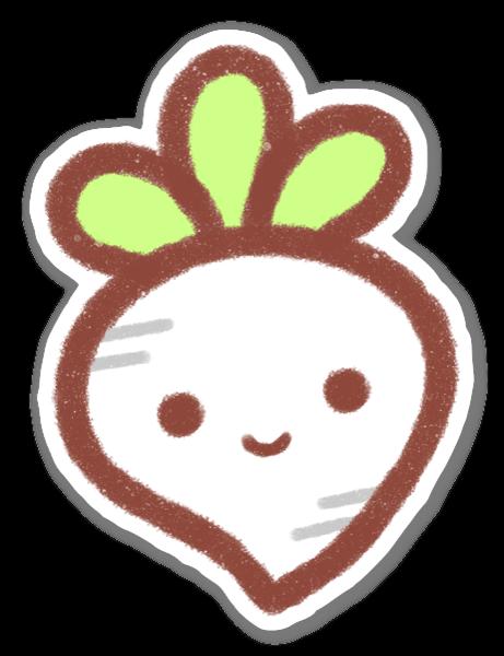 Kawaii Radish Sticker