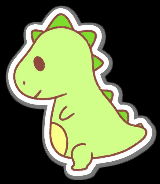 Liten T-Rex sticker