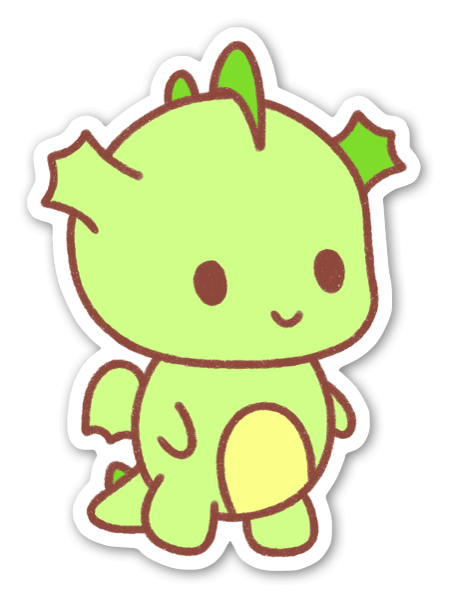 Happy Gurīn the Dragon Sticker
