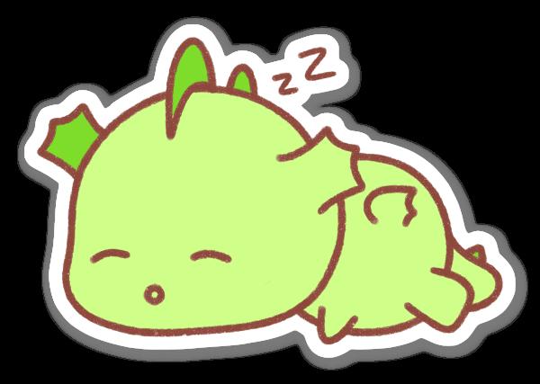 Sovande Figur sticker
