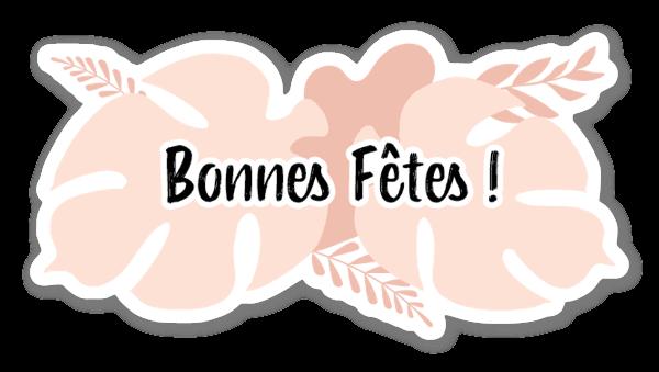 Bonnes Fêtes ! Party Tropical Pastel French Style Decorative Sticker