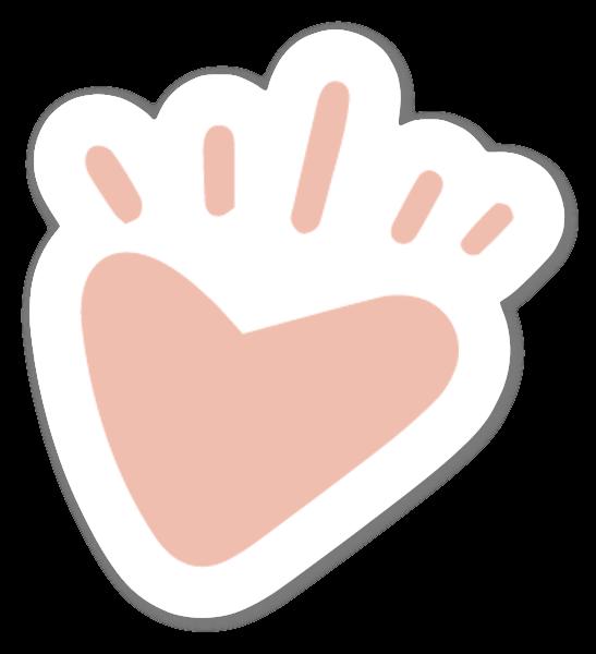 Hand drawn heart sticker