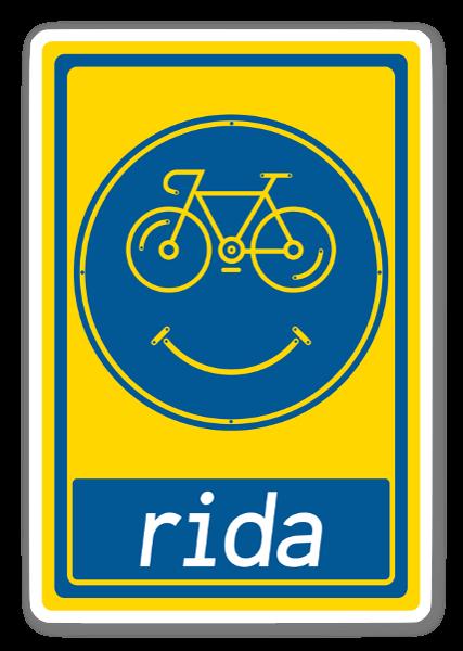 #BikeyRIDA - Ruotsi tarra