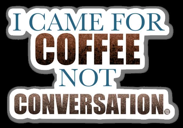 Kaffe sticker