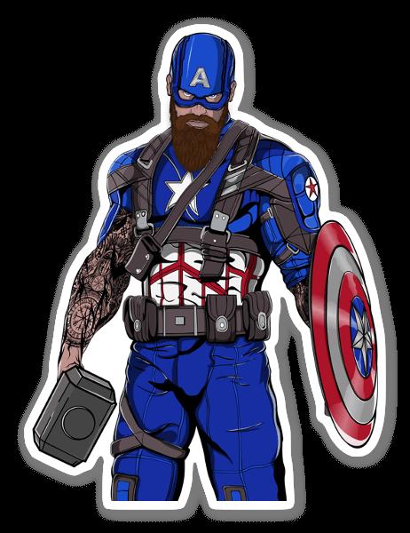 Captain Mjolnir sticker