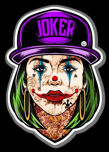 Joker Girl sticker
