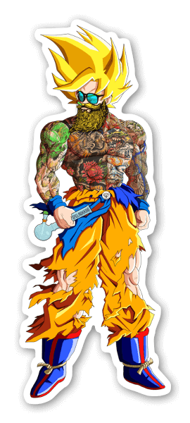 Bearded and tattooed Saiyan tarra