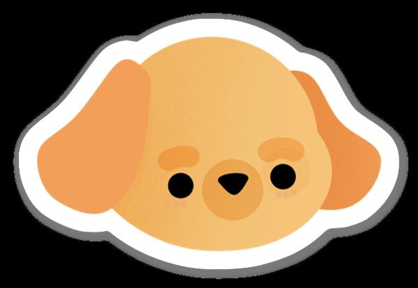 Orange Hund sticker
