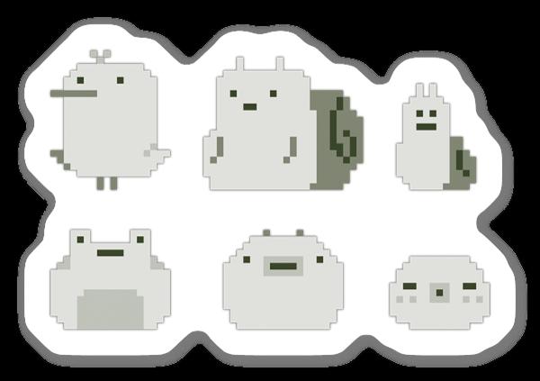 Pixel Creatures sticker