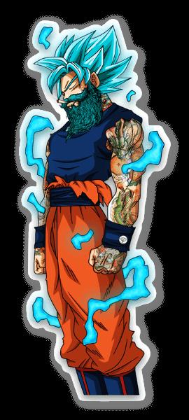 God Mode Goku sticker