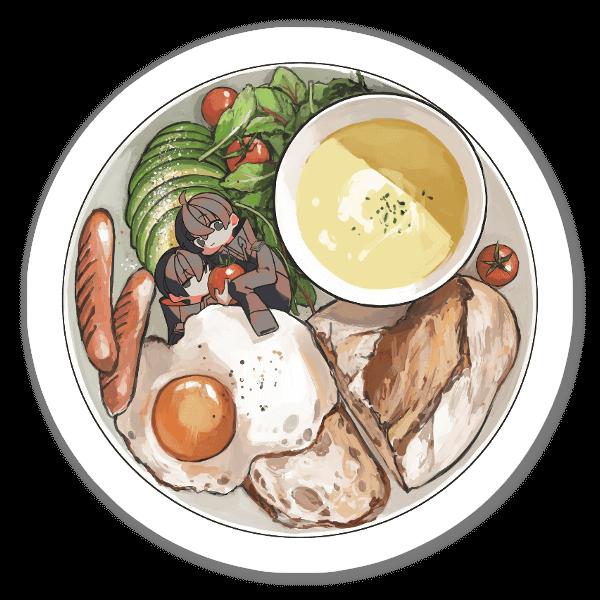 Middag sticker