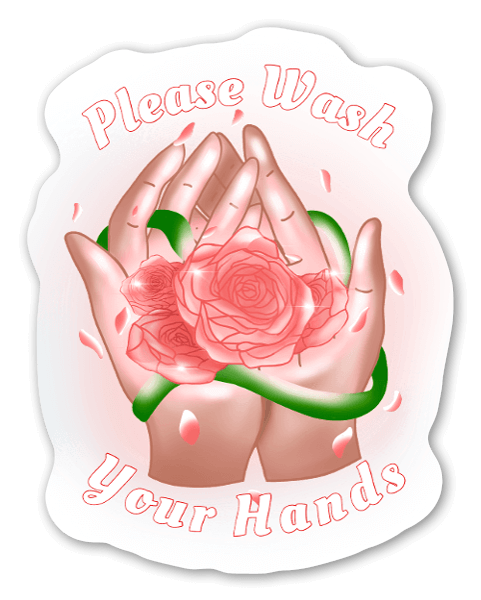 Please Wash Your Hands pegatina