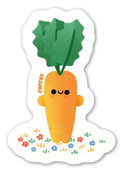 Porkkana tarra