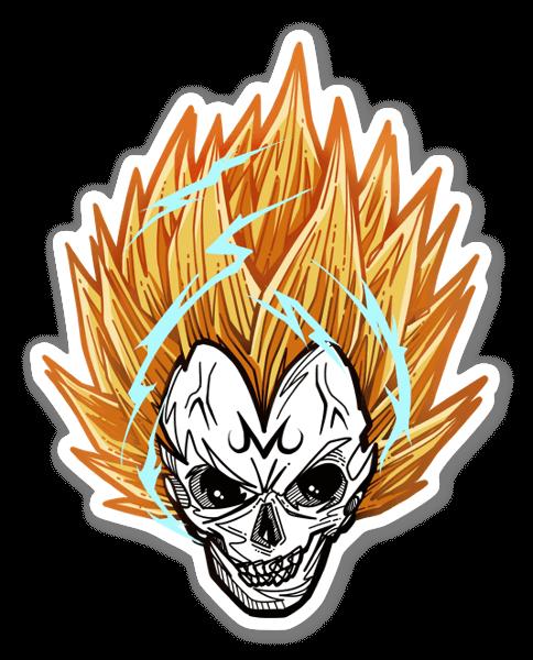 Skull Majin Vegeta sticker