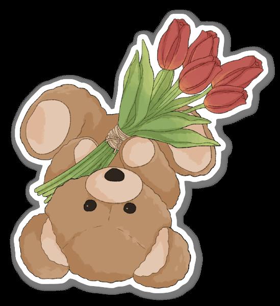 Tulip Bear sticker