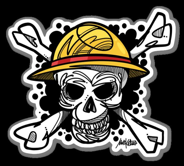 One Piece Skull sticker