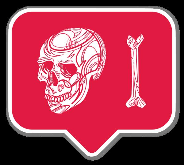 Insta Skull  sticker