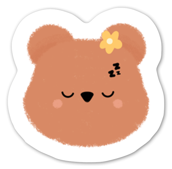 Sleepy Bear sticker