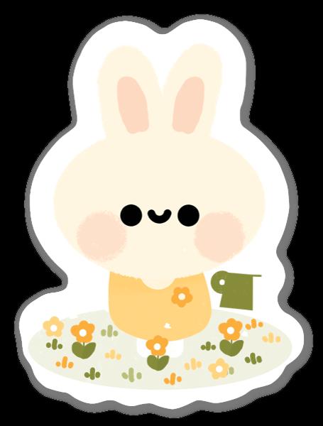 Kanin i Trädgård sticker