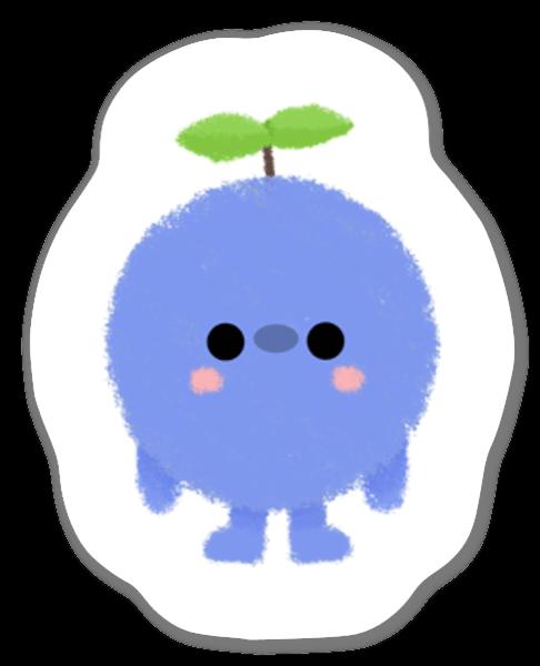 Växande Blåbär sticker