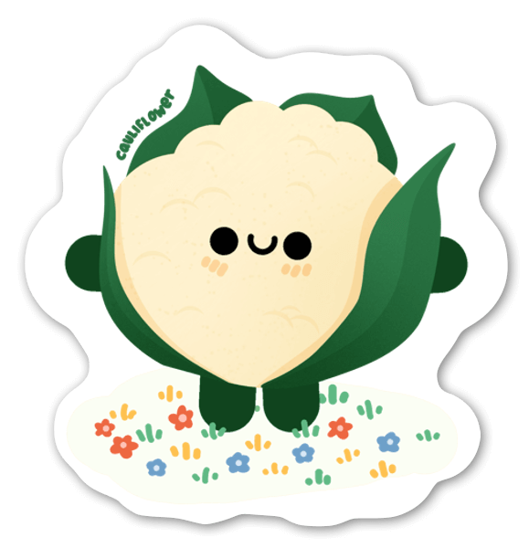 Blomkålsbebis sticker