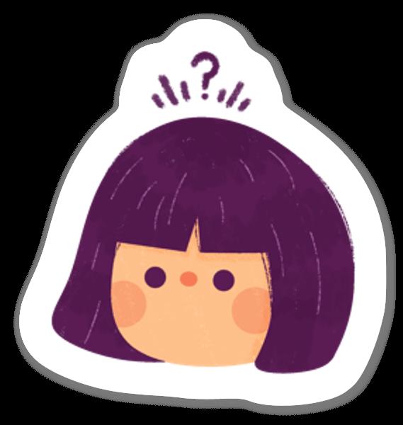 Puzzled sticker