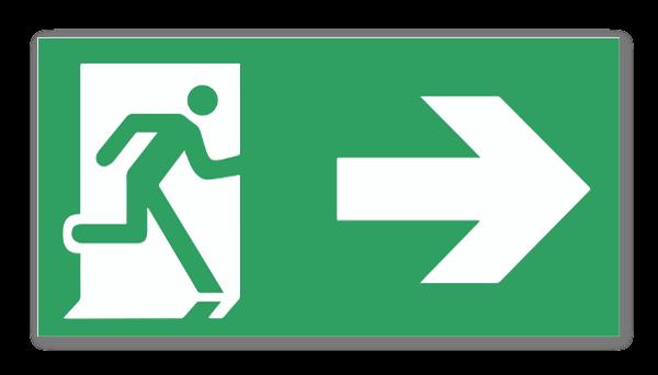 Hätäuloskäynti tarra