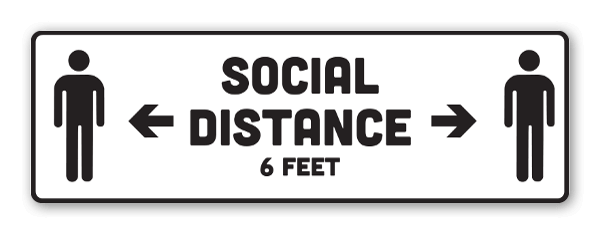 Distanciamiento social pegatina