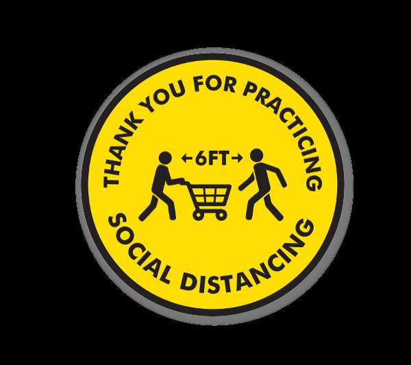 Social Distance Shoppers sticker