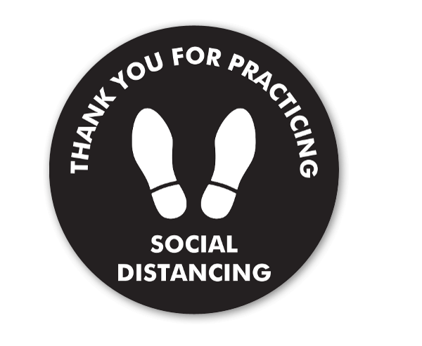 Thank You For Practicing Social Distancing sticker