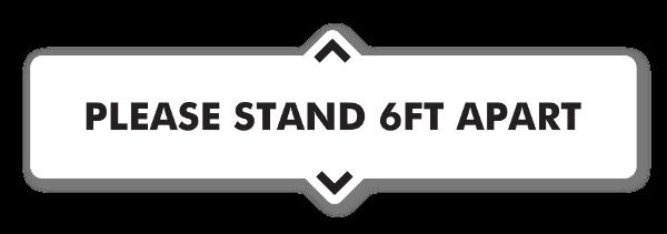 Please Stand 6ft Apart tarra