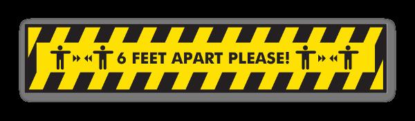 Warning 6ft Apart! sticker