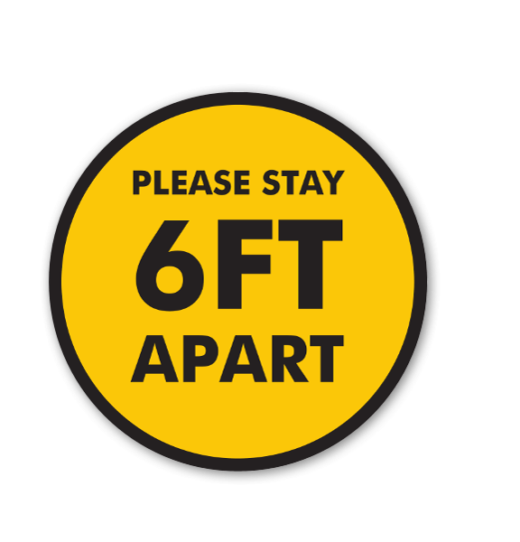 6ft Apart Stickers